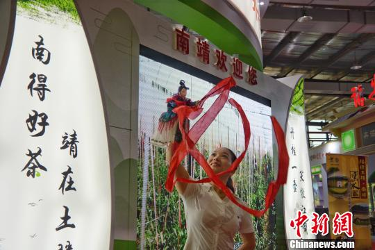 海峡茶会展示漳州非遗木偶戏表演。 龚雯 摄